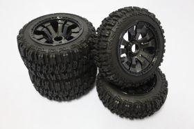 "5B Small Knobby ""EXCAVATOR"" w/ carbon split super star wheels set"